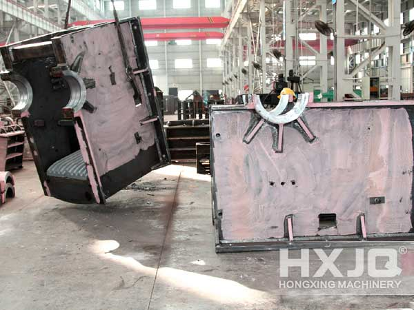concrete crusher frame