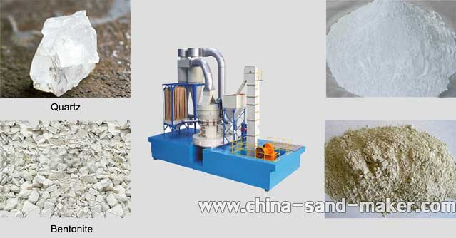 Raymond Grinder Processing Materials