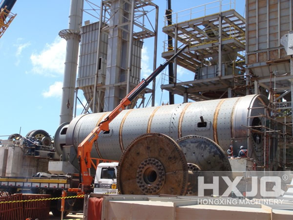 Cement Ball Mill Work Site