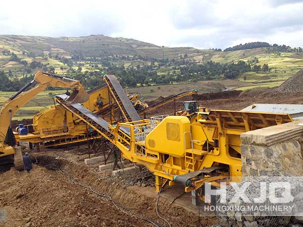 Quarry Portable stone crusher