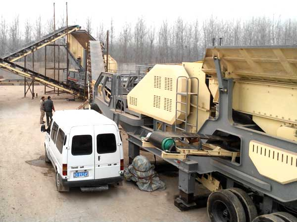 mobile crusher work site